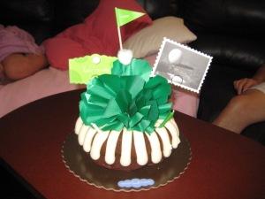 Golf-themed cake!