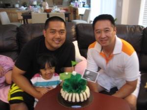 Birthday boys: Jing & Tim, plus little C.A.
