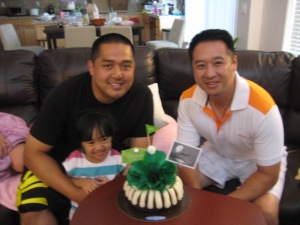 Birthday boys: Jing & Tim, plus little C.A.