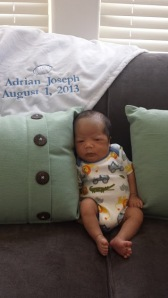 Adrian at one month