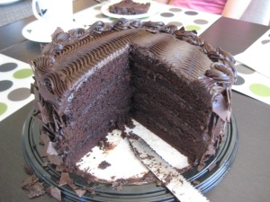 COSTCO CHOCOLATE CAKE = YUM!