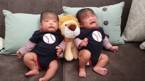The twins at two months!