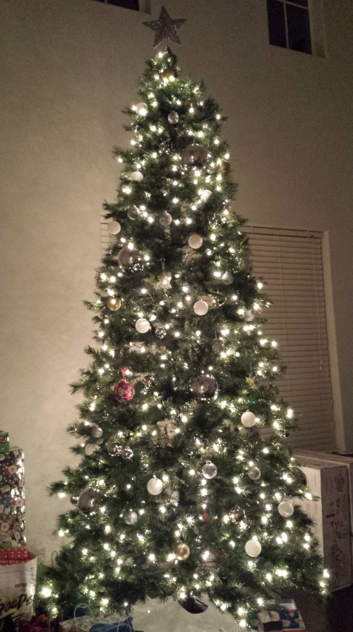 Our Christmas tree last year (2013)!