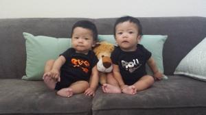 AJ & JT @ 8 months