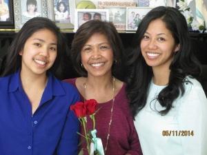 sister - mom - me