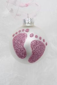 baby footprints ornament