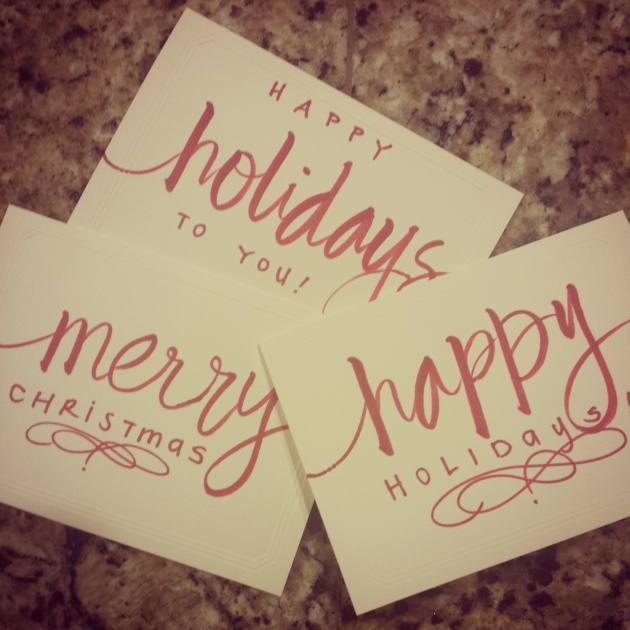 holiday envelopes calligraphy | sharissespieces
