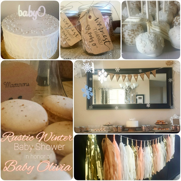 Rustic Winter Themed Baby Shower