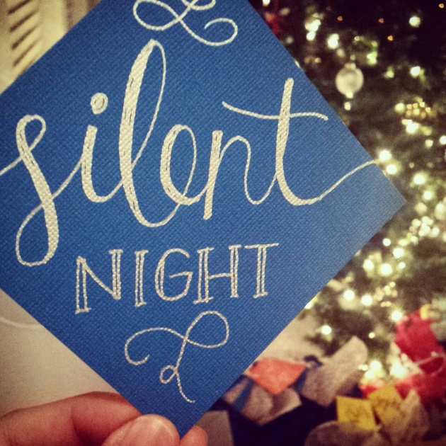 silent night calligraphy | sharissespieces