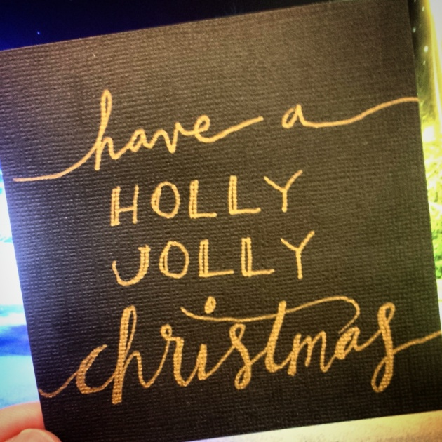 christmas calligraphy | sharissespieces
