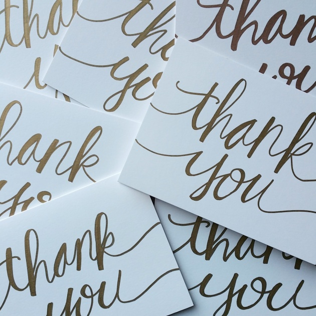thank you calligraphy | sharissespieces