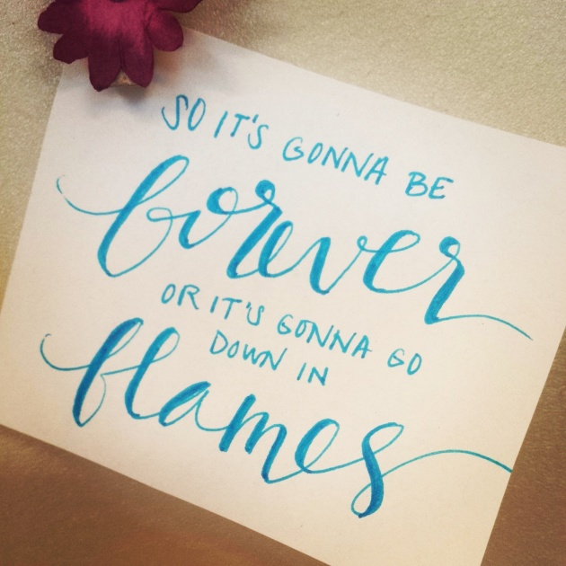 lyrics calligraphy | sharissespieces