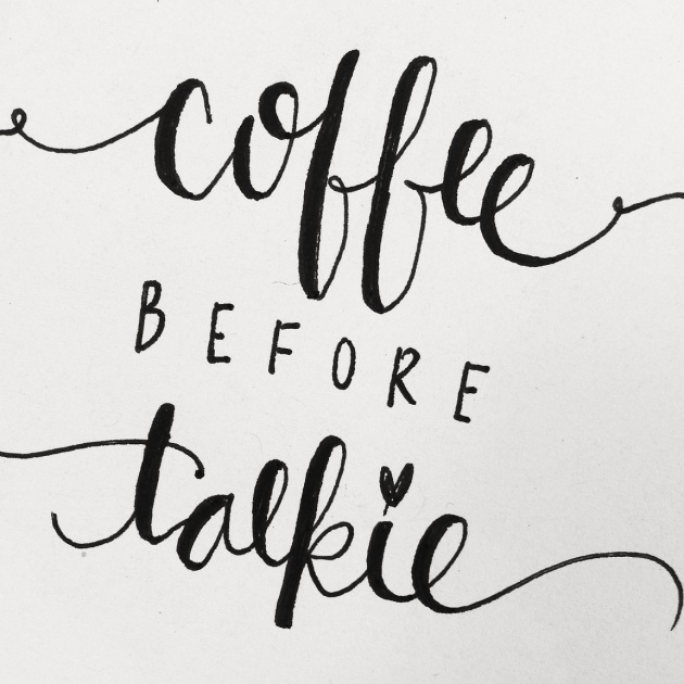 coffee calligraphy | sharissespieces