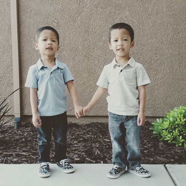 Boys outside the house holding hands_1