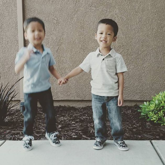 Boys outside the house holding hands_2